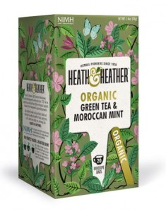 Herbata ekologiczna Green Tea Maroccan Mint Heat & Heather