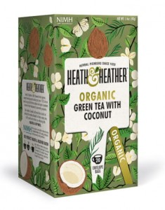 Herbata ekologiczna Green Tea & Coconut Heath & Heather