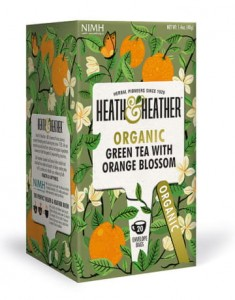 Herbata ekologiczna Green Tea Orange Blossom Heath&Heather
